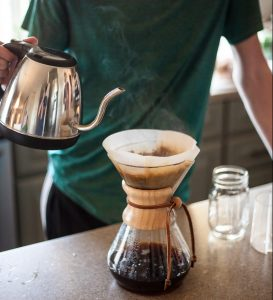 pour over coffee funnel and filter